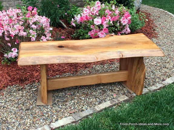 Natural Wood DIY Garden Bench Tutorial