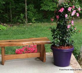 Genial Natural Wood Diy Garden Bench Tutorial, Diy, How To, Outdoor Furniture,  Woodworking