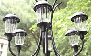 how to make a garden chandelier, how to, lighting, outdoor living
