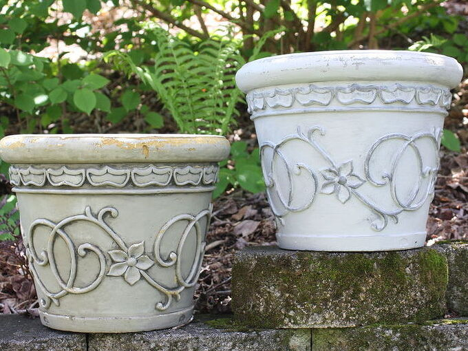 flower pot makeover with paint, container gardening, gardening, painting