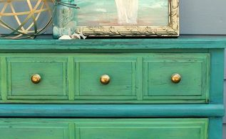 tide pool green beachy dresser makeover, painted furniture