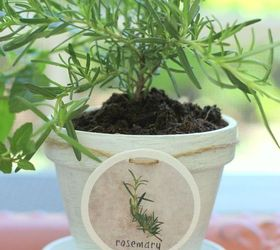 Diy Hang Tags And Painted Clay Pots For Herbs, Container Gardening, Crafts,  Gardening