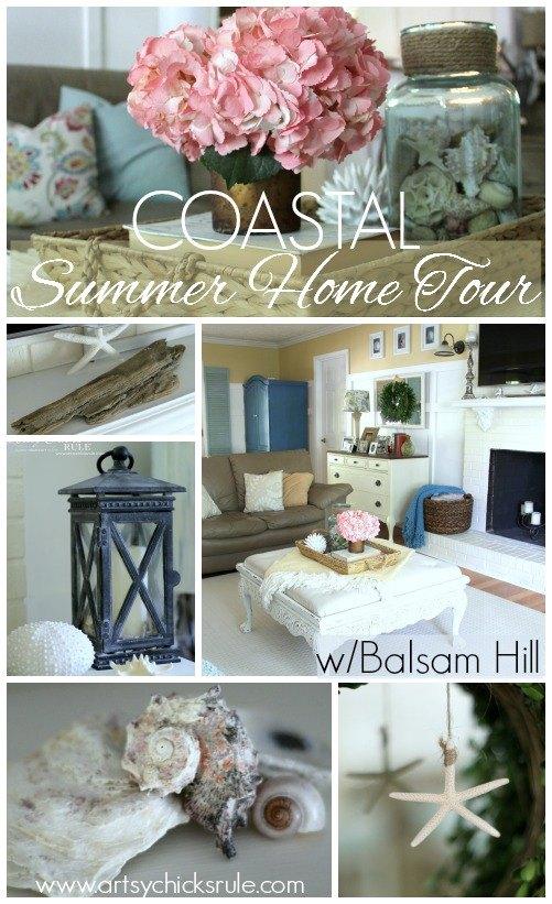 coastal summer home tour, home decor