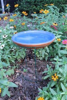 diy tomato cage bird bath, crafts, gardening, how to, pets animals, repurposing upcycling