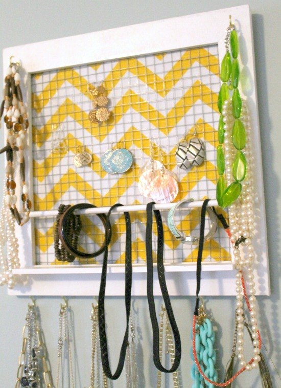diy picture frame jewelry organizer, how to, organizing, repurposing upcycling