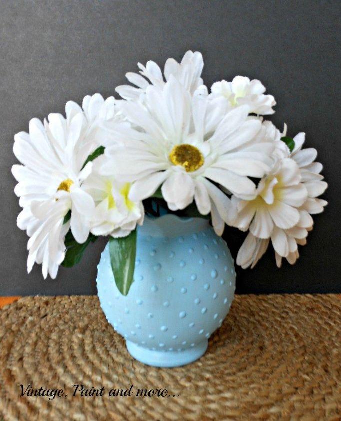 Diy Blue Hobnail Glass Vase Hometalk