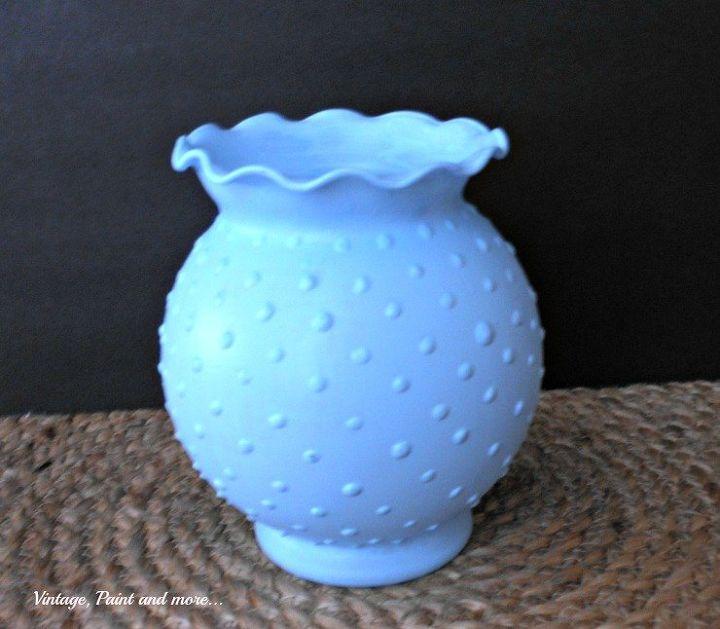 Diy Blue Hobnail Glass Vase Hometalk