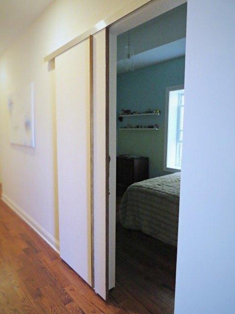 DIY A Sliding BarnType Bedroom Door Hometalk Simple Door Bedroom