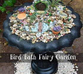 Repurposed Bird Bath To Fairy Garden, Container Gardening, Gardening,  Outdoor Living, Repurposing