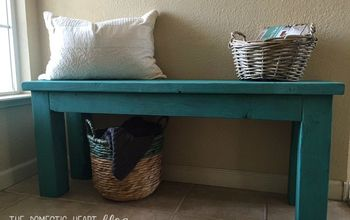 DIY Turquoise 2×4 Entry Bench – HD Monthly Challenge