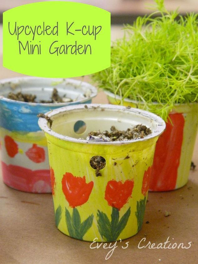 upcycled k cup mini garden tutorial, container gardening, crafts, gardening, how to, repurposing upcycling