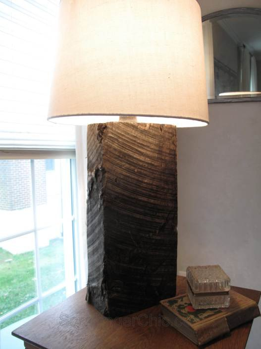 upcycled railroad tie lamp diy, diy, how to, lighting, repurposing upcycling, rustic furniture