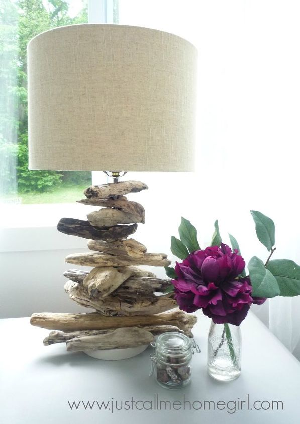 how to make a driftwood lamp, how to, lighting, repurposing upcycling