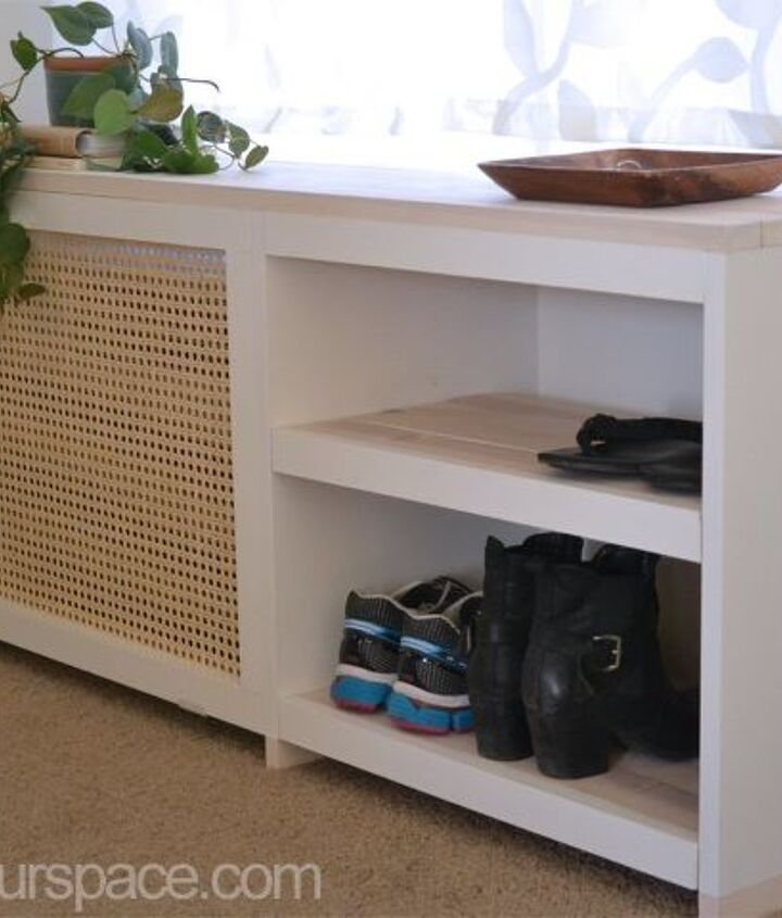 how to make a shoe rack or table to conceal an ac unit, how to, hvac, painted furniture, repurposing upcycling