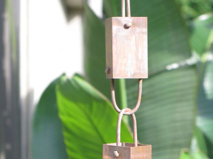 how to install a rain chain, gardening, how to