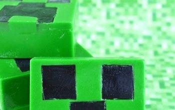 Homemade Minecraft Creeper Soap
