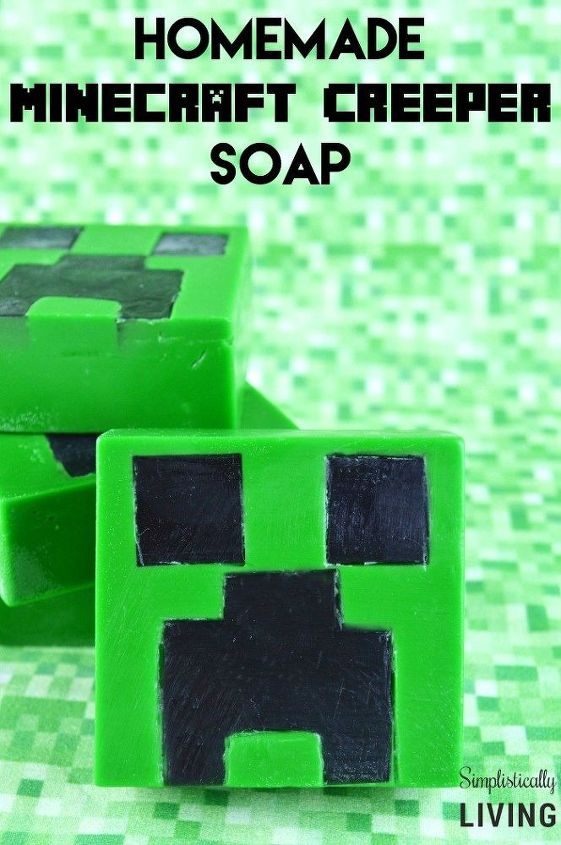 homemade minecraft creeper soap, crafts, how to