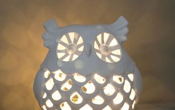 diy upcycled owl nightlight, crafts, how to, lighting, repurposing upcycling