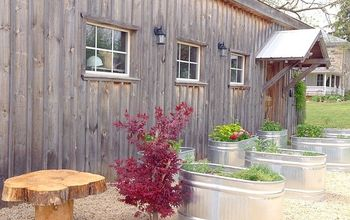 creating a raised herb garden from water troughs, container gardening, gardening, raised garden beds, repurposing upcycling