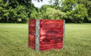 simple stackable compost bin from pallets collars, composting, gardening, go green, pallet, repurposing upcycling, storage ideas
