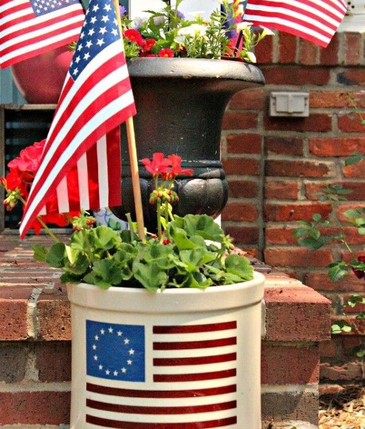 all american porch decorations for the 4th of july, patriotic decor ideas, porches, seasonal holiday decor