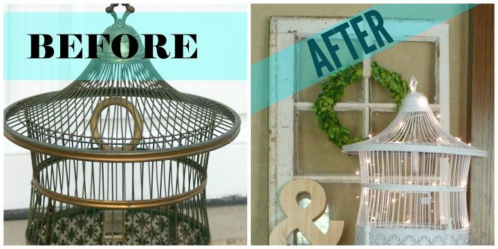 vintage bird cage makeover, crafts, repurposing upcycling