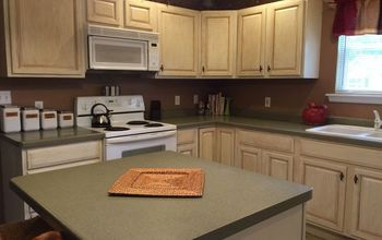 kitchen cabinets makeover with milk paint, kitchen cabinets, kitchen design, painting