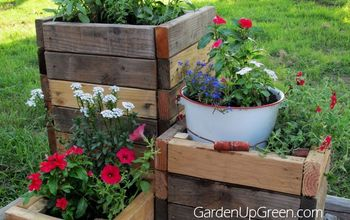 diy reclaimed wood planter boxes, container gardening, flowers, gardening, how to, woodworking projects