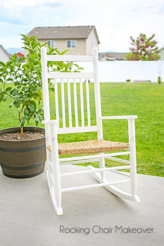 rocking chair makeover, outdoor furniture, painted furniture