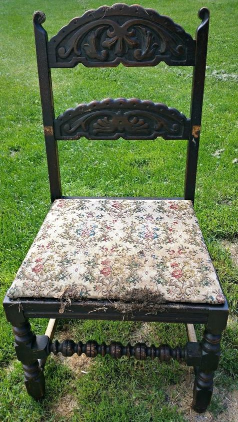 a southwestern chair makeover, painted furniture, rustic furniture, reupholster