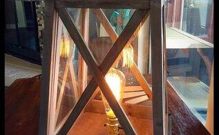 adding electricity to lanterns, lighting, repurposing upcycling