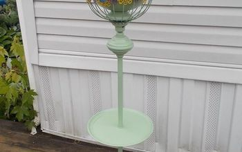 floor lamp to flower pot, container gardening, flowers, gardening, repurposing upcycling