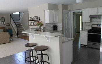 gray white kitchen makeover, kitchen cabinets, kitchen design