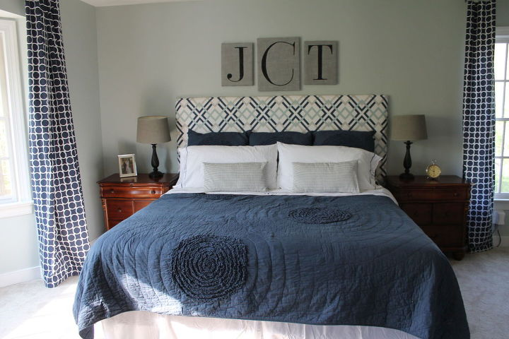 calming blue and gray master bedroom remodel, bedroom ideas, painting