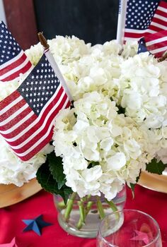 easy patriotic tablesetting centerpieces for 4th of july 4thofjuly, dining room ideas, patriotic decor ideas, seasonal holiday decor