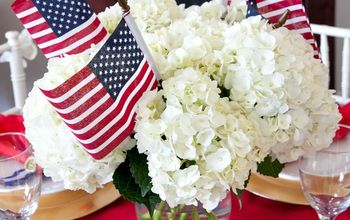 Easy Patriotic Tablesetting & Centerpieces for 4th of July #4thofJuly