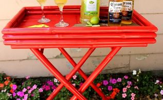 bar cart makeover, outdoor furniture, outdoor living, painted furniture