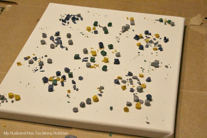 diy abstract art using melted crayons, crafts, repurposing upcycling, wall decor