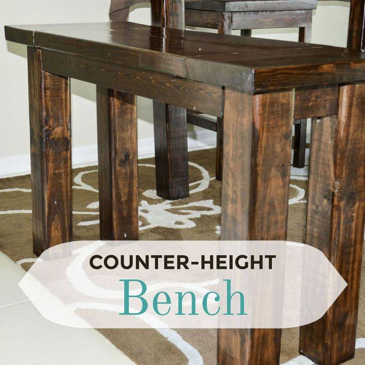 Diy Counter Height Bench How To Painted Furniture Woodworking Projects