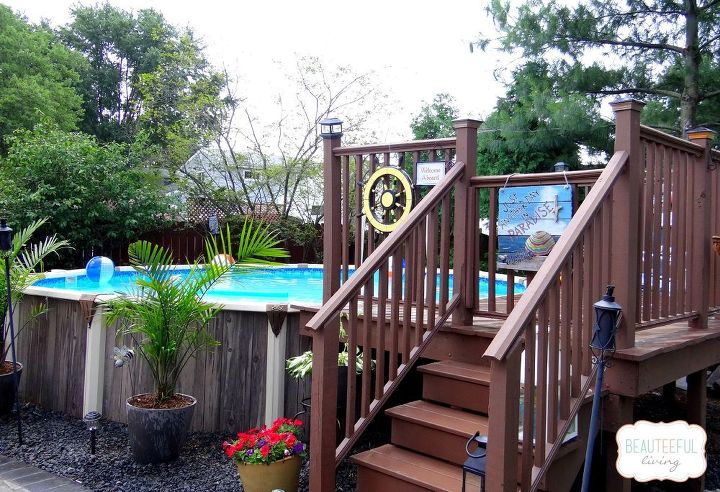 pool deck makeover, decks, outdoor living, pool designs