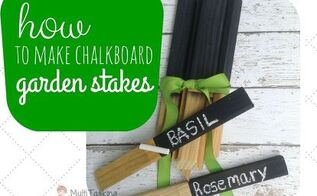 how to make chalkboard garden stakes, chalkboard paint, crafts, gardening, how to