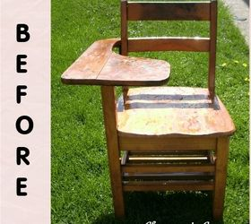 Old Desk Chair Refurbished, Painted Furniture, Repurposing Upcycling