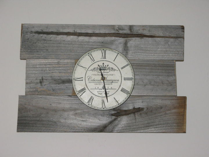 Recycle Old Fence Palings Clock Upcycle Hometalk