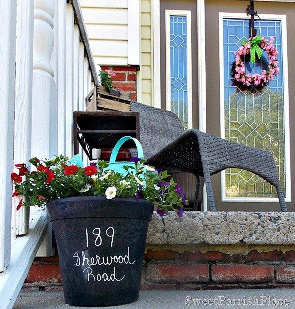 summer front stoop, curb appeal, gardening, outdoor living