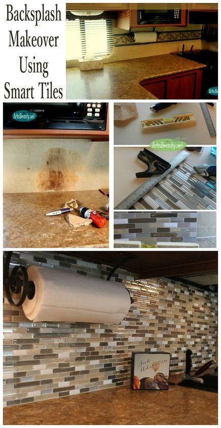 easy backsplash makeover using smart tiles, diy, how to, kitchen backsplash, kitchen design, tiling