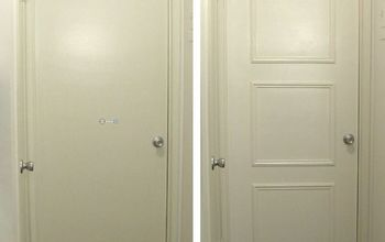 easy door upgrade with moulding no nails needed, doors, how to