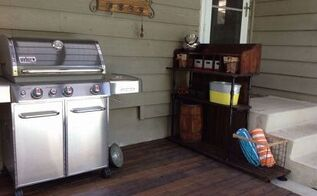 outdoor patio bar storage area, outdoor furniture, outdoor living, storage ideas