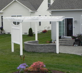 Pergola On A Curved Patio, Outdoor Living, Patio, AFTER