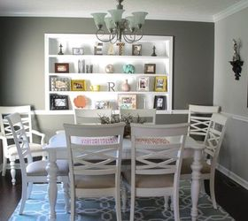Complete Dining Room Makeover, Dining Room Ideas, Paint Colors, Shelving  Ideas, Wall