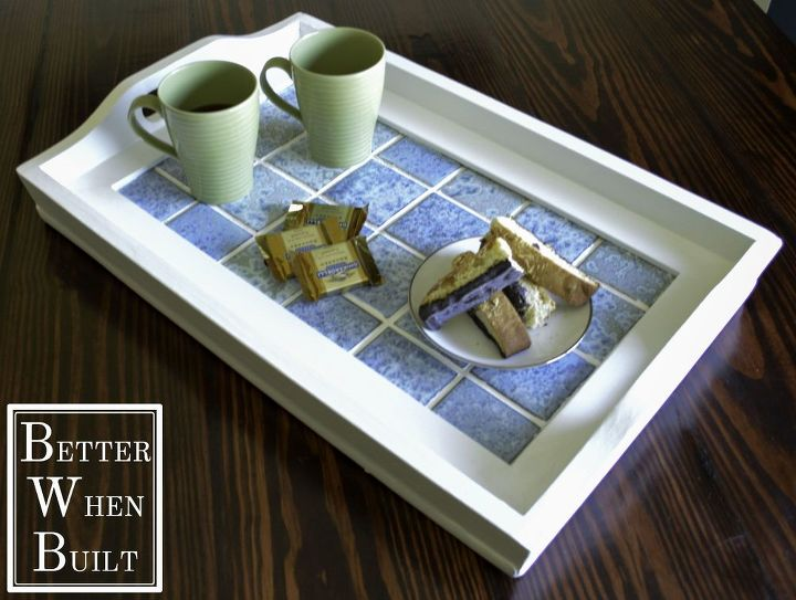 refurbished tiled serving tray, crafts, how to, repurposing upcycling, tiling